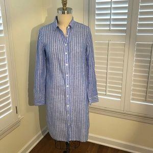 Ann Taylor  Linen Shirtdress, Med Tall
